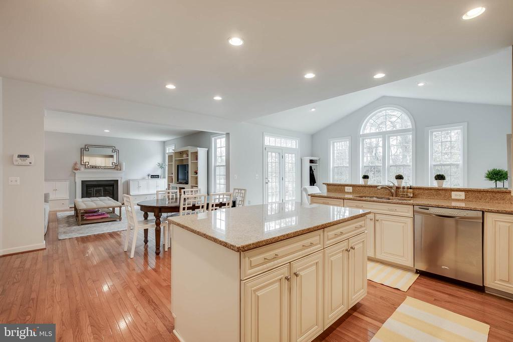 The large kitchen island! - 25983 KIMBERLY ROSE DR, CHANTILLY