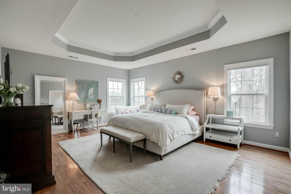 Gorgeous master bedroom with a tray ceiling! - 25983 KIMBERLY ROSE DR, CHANTILLY