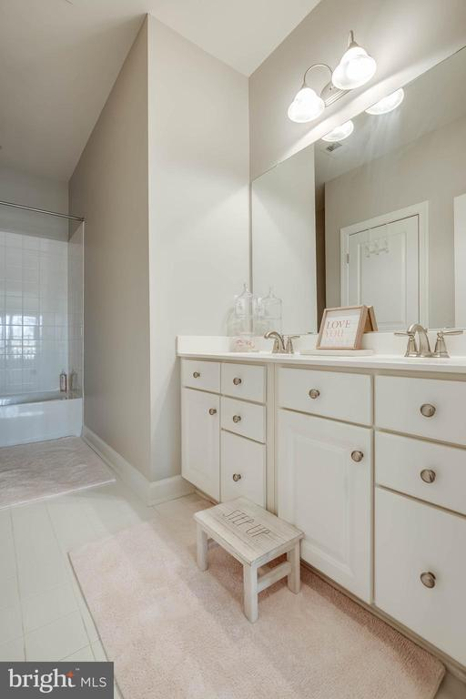 The hall bath has been freshly painted! - 25983 KIMBERLY ROSE DR, CHANTILLY