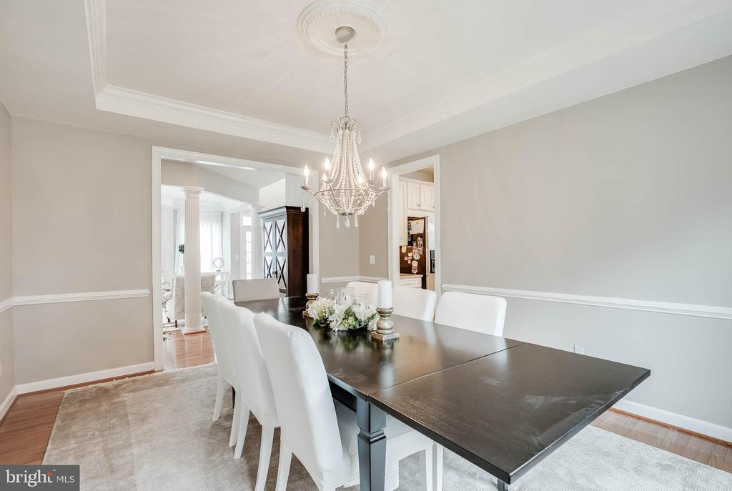 Look at this stunning chandelier! - 25983 KIMBERLY ROSE DR, CHANTILLY