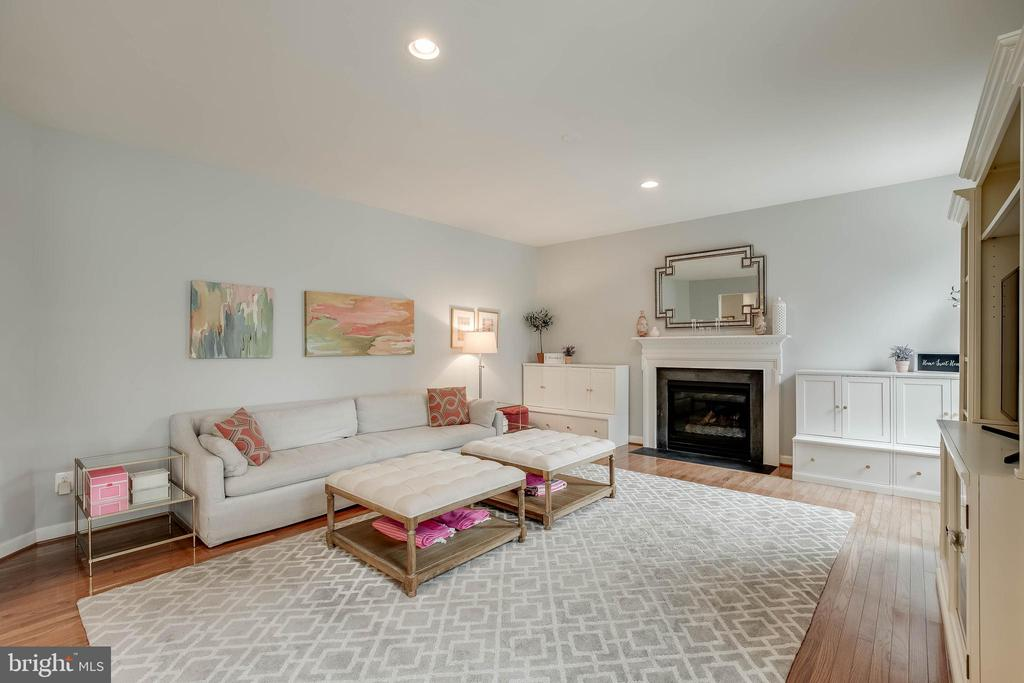 Relax in your family room and enjoy the fire! - 25983 KIMBERLY ROSE DR, CHANTILLY