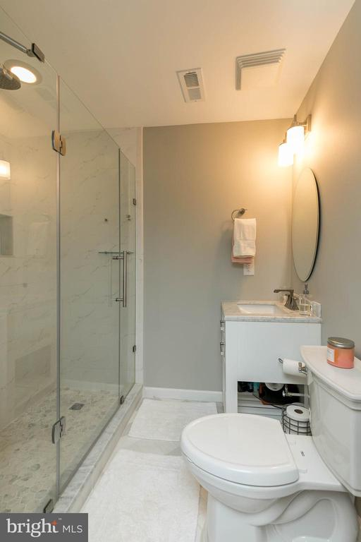 Beautifully finished lower level bathroom! - 25983 KIMBERLY ROSE DR, CHANTILLY