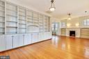 Living Room with Built-ins and  Fireplace - 302 RUCKER PL, ALEXANDRIA