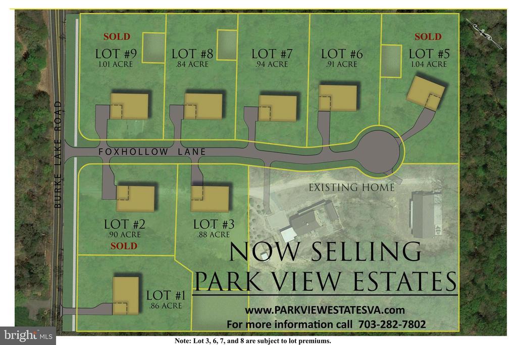 Park View Estates Subdivision Plan - 10317 BURKE LAKE RD, FAIRFAX STATION