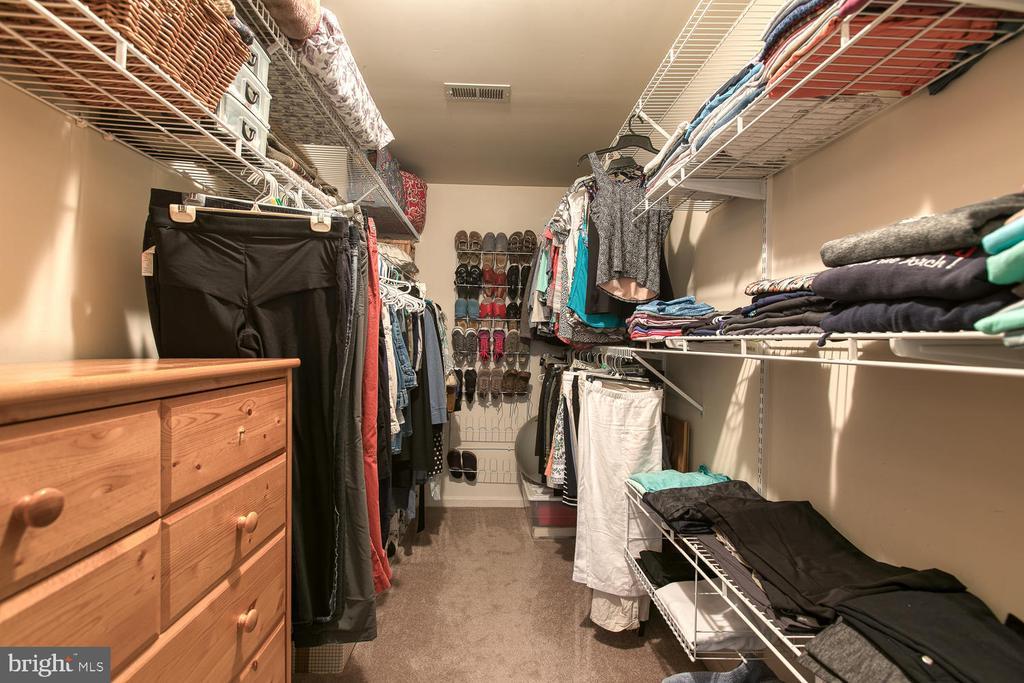 Master bedroom walk-in closet - 131 EUSTACE RD, STAFFORD