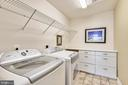 Upper level Laundry with built-in cabinetry - 1903 EAMONS WAY, ANNAPOLIS
