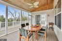 Vaulted cedar ceiling in Screened Porch - 1903 EAMONS WAY, ANNAPOLIS