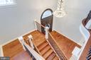 Solid Brazilian cherry hardwood stairs. - 120 KINGSLEY RD SW, VIENNA