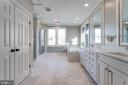 Palatial master bath with marble floor & wall tile - 120 KINGSLEY RD SW, VIENNA