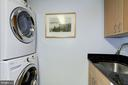 Stacked Washer/Dryer - 4601 N PARK AVE #809-J, CHEVY CHASE