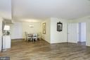 Dining Area & Living Room - 4601 N PARK AVE #809-J, CHEVY CHASE