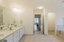 Master Bath W/Dual Sinks and Private Lavatory - 9321 WEIRICH RD, FAIRFAX