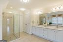 Upscale Master Bath w/Frameless Glass Shower - 9321 WEIRICH RD, FAIRFAX