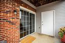 Private patio area with secure storage closet - 302 GROSVENOR LN #3, STAFFORD