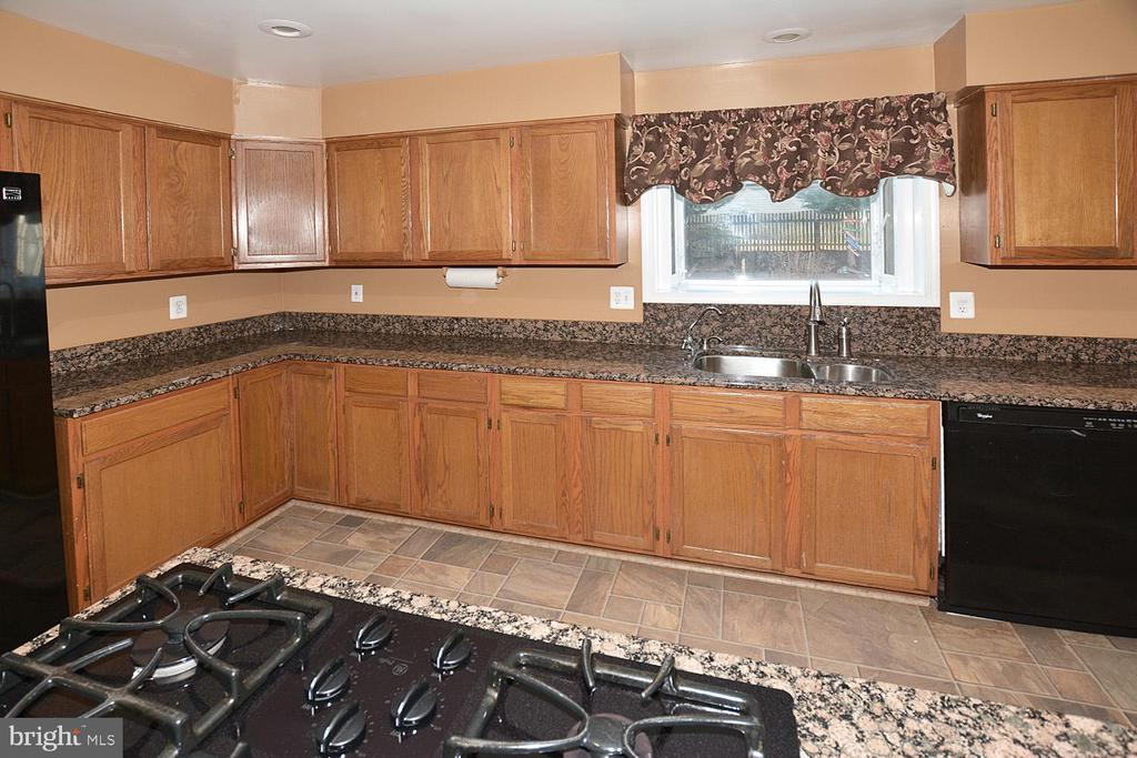 Granite counters and plant window in kitchen - 9337 S WHITT DR, MANASSAS PARK