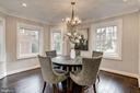 Sun-filled breakfast room w/large bay window - 6626 31ST PL NW, WASHINGTON