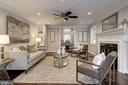 Large living room w/fireplace - 6626 31ST PL NW, WASHINGTON