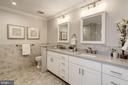 Luxurious master bathroom w/double vanity - 6626 31ST PL NW, WASHINGTON