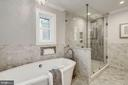 Master bath w/ soaking tub & separate shower - 6626 31ST PL NW, WASHINGTON