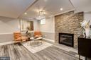 Cozy conversation area w/fireplace - 6626 31ST PL NW, WASHINGTON