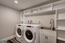 Separate laundry room w/built-in shelving - 6626 31ST PL NW, WASHINGTON