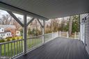 Lower deck w/open, as well as, covered area - 6626 31ST PL NW, WASHINGTON