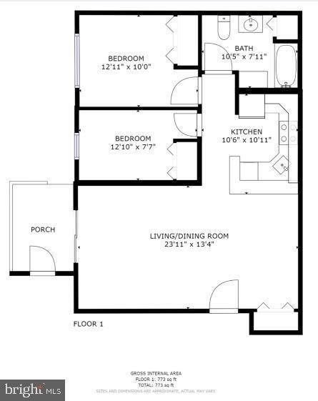 Property Floorplans! - 302 GROSVENOR LN #3, STAFFORD