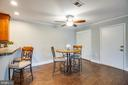 Bright and open dining area! - 302 GROSVENOR LN #3, STAFFORD