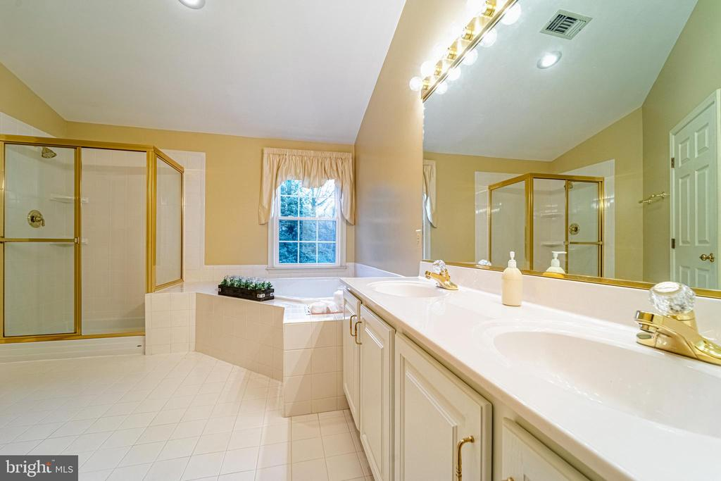 Double sink in Master Bath - 3910 BARCROFT MEWS CT, FALLS CHURCH