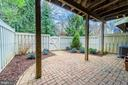 Private outdoor space-Brick Patio backing to trees - 3910 BARCROFT MEWS CT, FALLS CHURCH