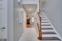Wood Stair Treads with Contrasting White Risers - 2459 HARPOON DR, STAFFORD