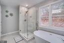 Frame-less Glass Master Shower and Brushed Nickel - 2459 HARPOON DR, STAFFORD