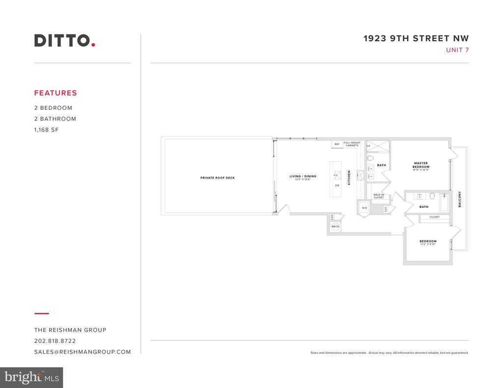 Penthouse Floor Plan - 1923 9TH ST NW #PH, WASHINGTON