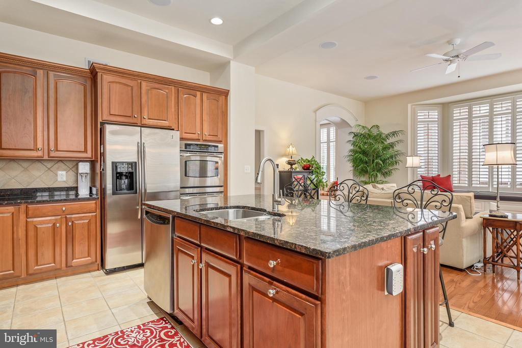 Gourmet kitchen with granite counters - 18215 CYPRESS POINT TER, LEESBURG