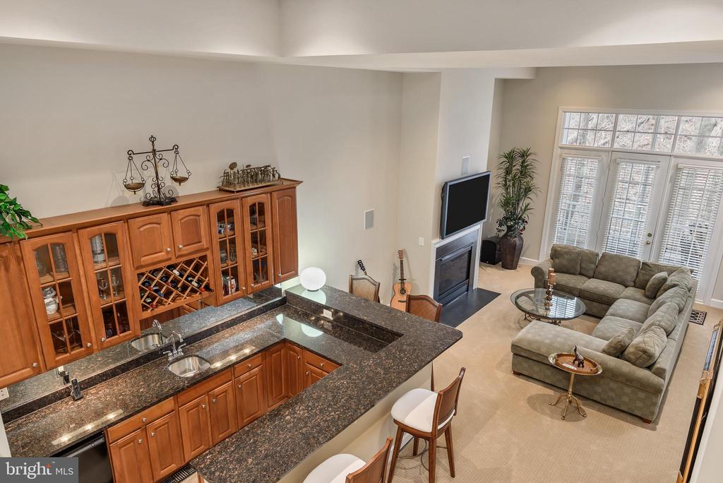 Lower level bar and family room - 18215 CYPRESS POINT TER, LEESBURG