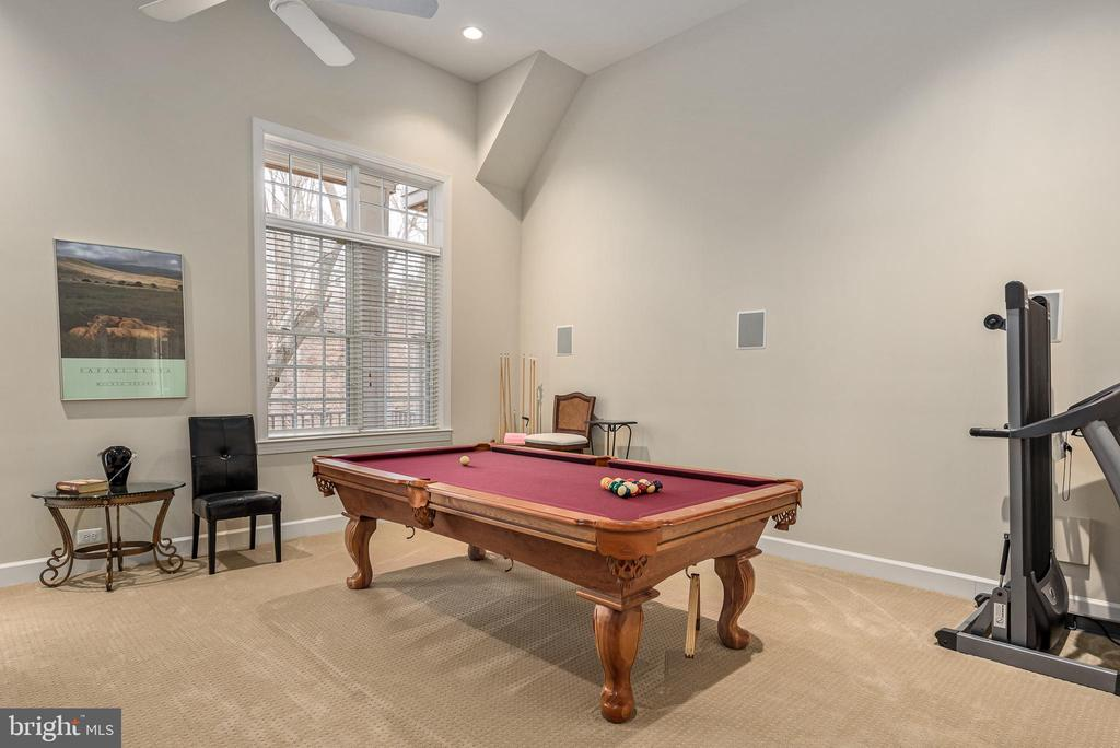 Billiard area could be 4th bedroom - 18215 CYPRESS POINT TER, LEESBURG