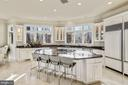 Gourmet Kitchen - Island with Bar Seating - 703 POTOMAC KNOLLS DR, MCLEAN