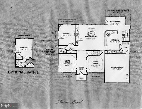 Main level floor plan - 429 AUTUMN CHASE CT, PURCELLVILLE