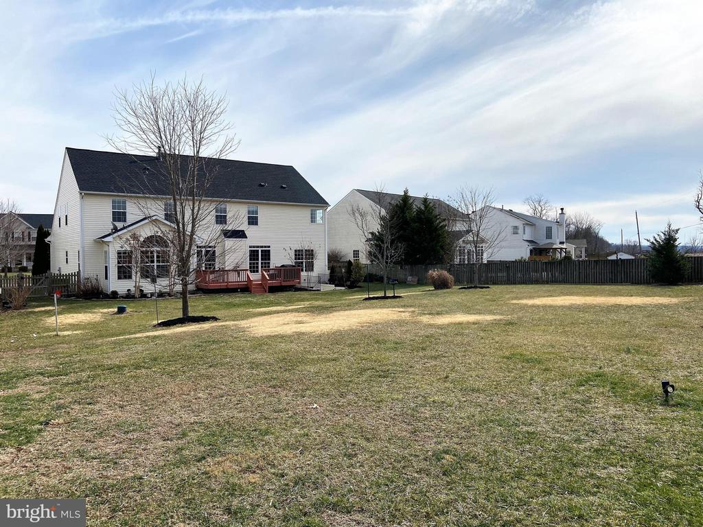 HUGE fenced rear yard - 429 AUTUMN CHASE CT, PURCELLVILLE