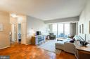 Spacious living area with balcony - 2939 VAN NESS ST NW #530, WASHINGTON