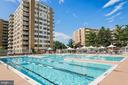 One of two exterior swimming pools - 2939 VAN NESS ST NW #530, WASHINGTON
