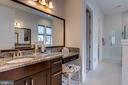 Owner's bath with upgraded granite and cabinets - 23734 HEATHER MEWS DR, ASHBURN