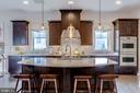 Chef's  kitchen with GE Monogram appliances - 23734 HEATHER MEWS DR, ASHBURN