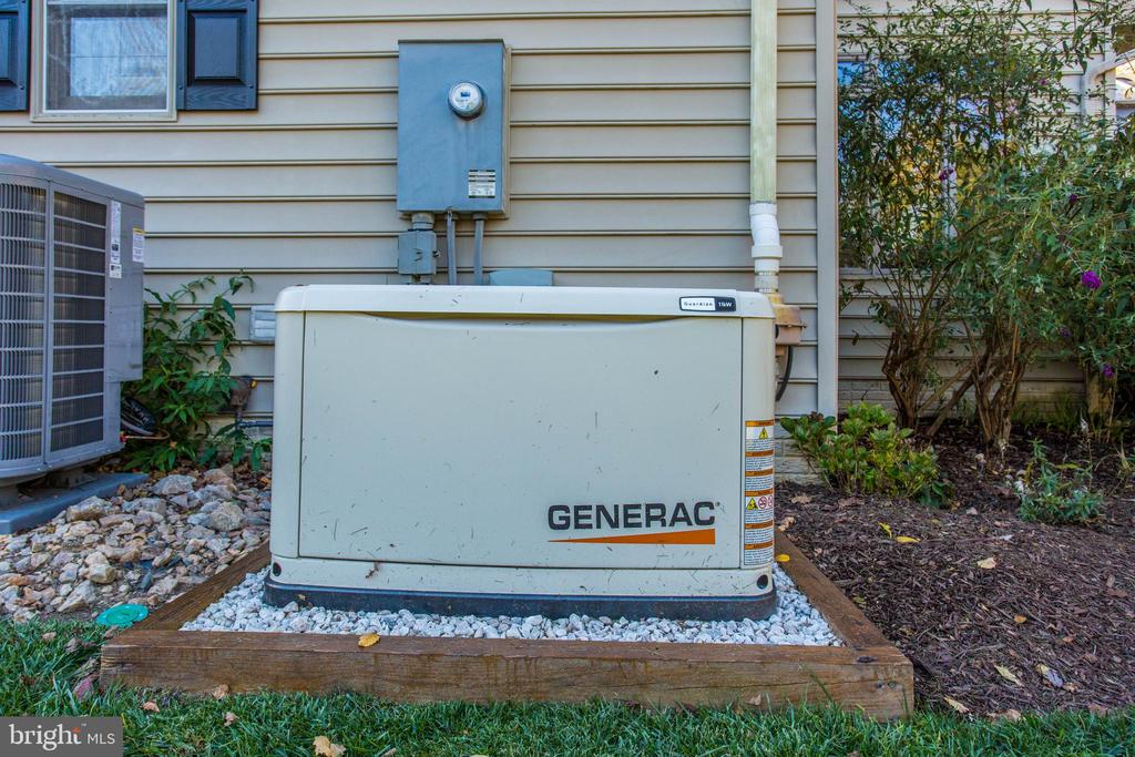 And backup generator. - 12060 ROSE HALL DR, CLIFTON