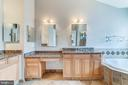 Granite counters and hardwood cabinets - 18212 CYPRESS POINT TER, LEESBURG