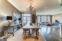 Large dining space and gorgeous chandelier - 18212 CYPRESS POINT TER, LEESBURG