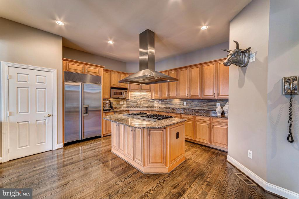 Dream gourmet kitchen with Viking and Sub-Zero - 18212 CYPRESS POINT TER, LEESBURG
