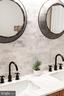 Marble tile backsplash - 18212 CYPRESS POINT TER, LEESBURG