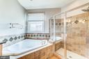 Sumptuous tub is bubble bath-ready - 18212 CYPRESS POINT TER, LEESBURG