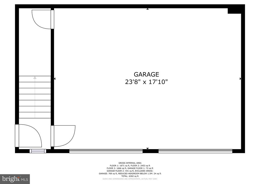 Garage - 6412 ELMWOOD RD, CHEVY CHASE